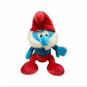 """SMURF 2008 Papa Smurf 10"""" Plush Toy Peyo"""